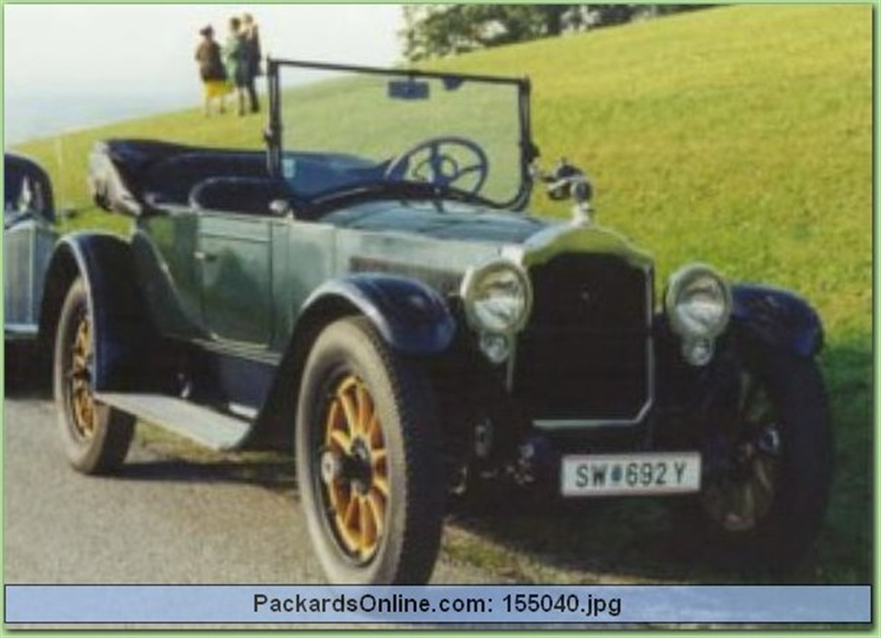 1918 Packard Model 3-35 4 Pas Runabout
