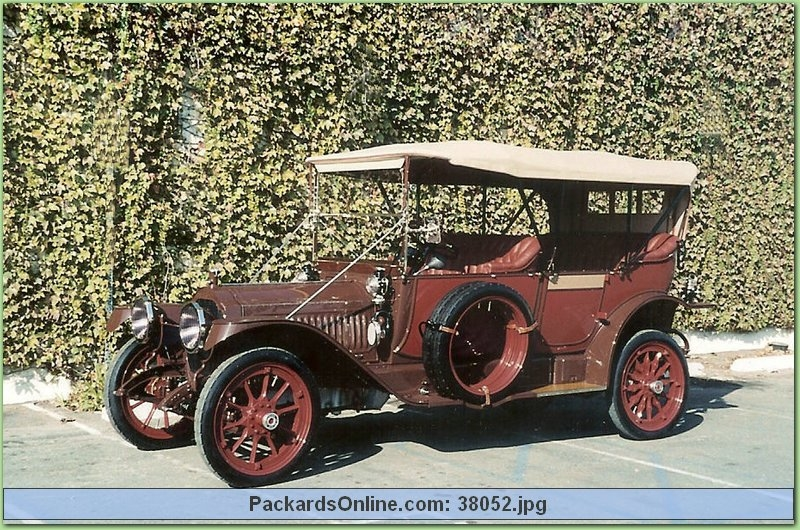 1913 Packard Model 1-38 5 Pas Touring